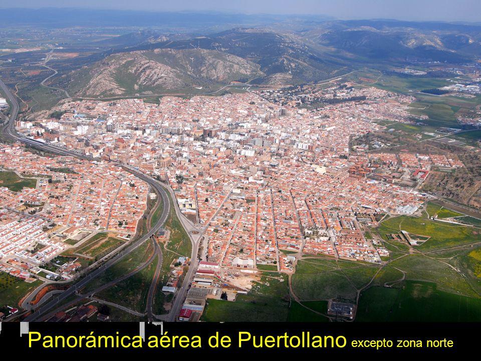 Panorámica aérea de Puertollano excepto zona norte