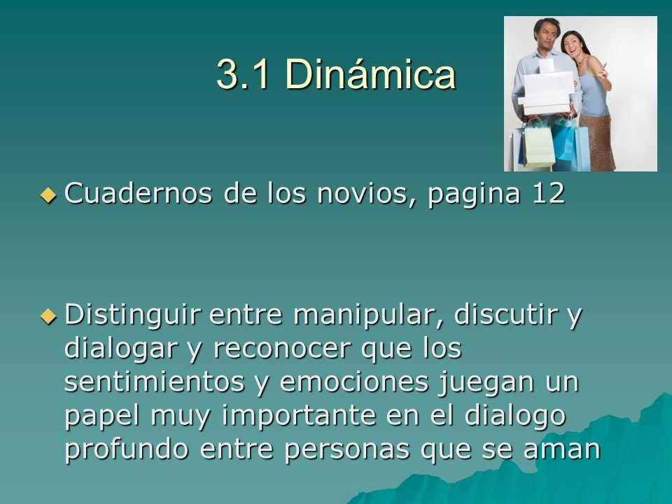 3.1 Dinámica Cuadernos de los novios, pagina 12