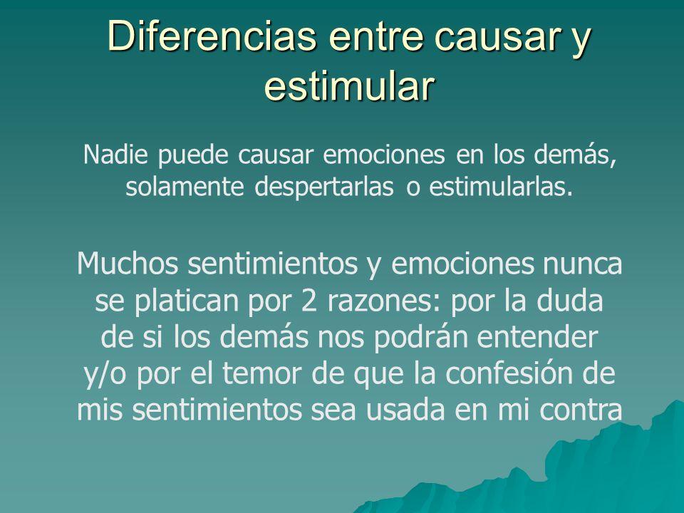 Diferencias entre causar y estimular