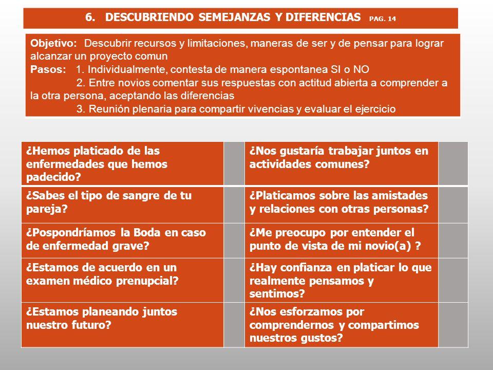 6. DESCUBRIENDO SEMEJANZAS Y DIFERENCIAS PAG. 14