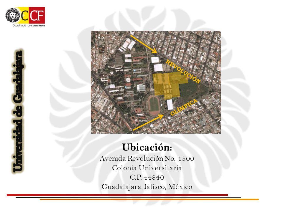 Ubicación: Avenida Revolución No. 1500 Colonia Universitaria