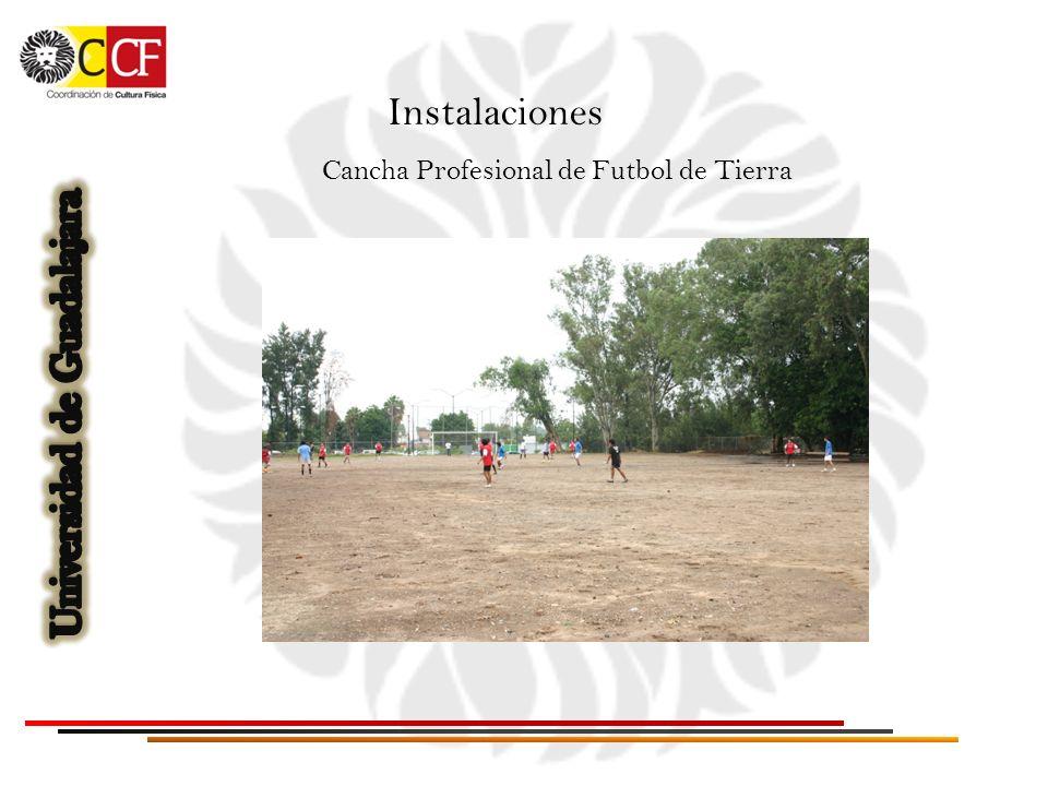 Instalaciones Cancha Profesional de Futbol de Tierra