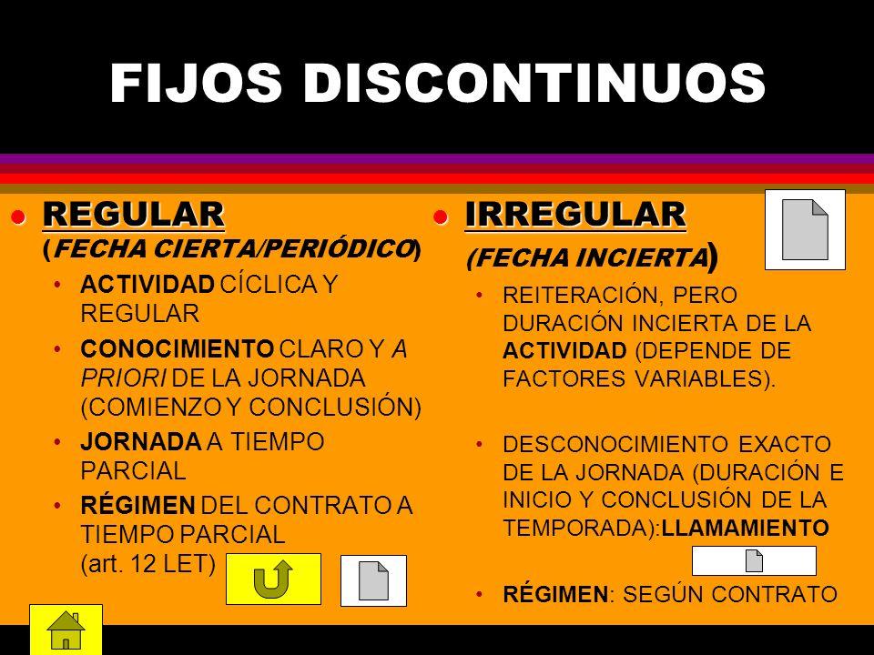 FIJOS DISCONTINUOS REGULAR (FECHA CIERTA/PERIÓDICO)