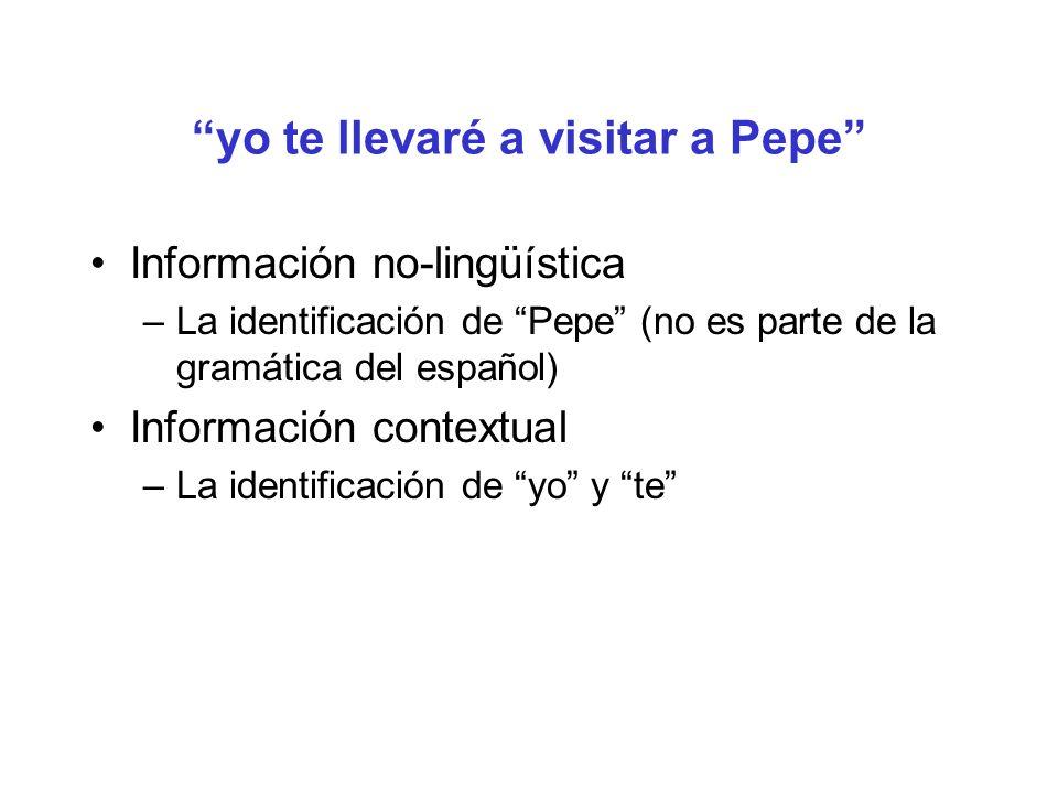 yo te llevaré a visitar a Pepe