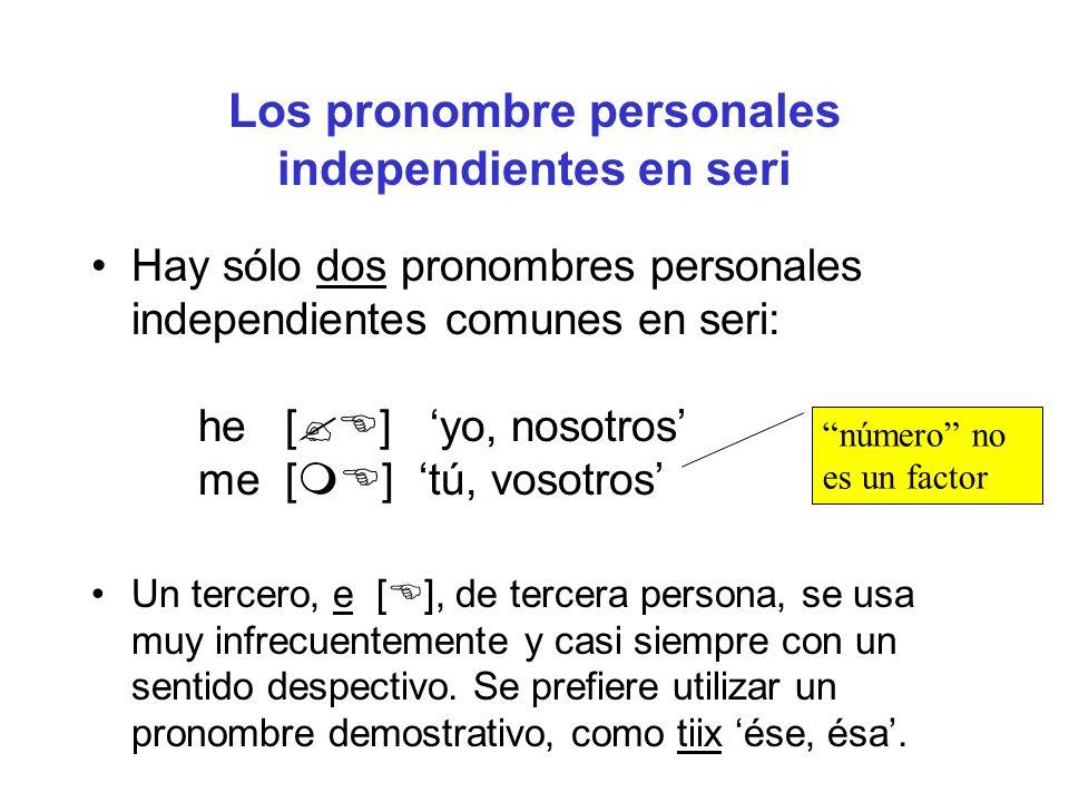 Los pronombre personales independientes en seri
