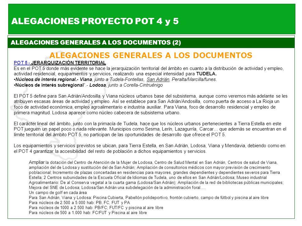 ALEGACIONES PROYECTO POT 4 y 5
