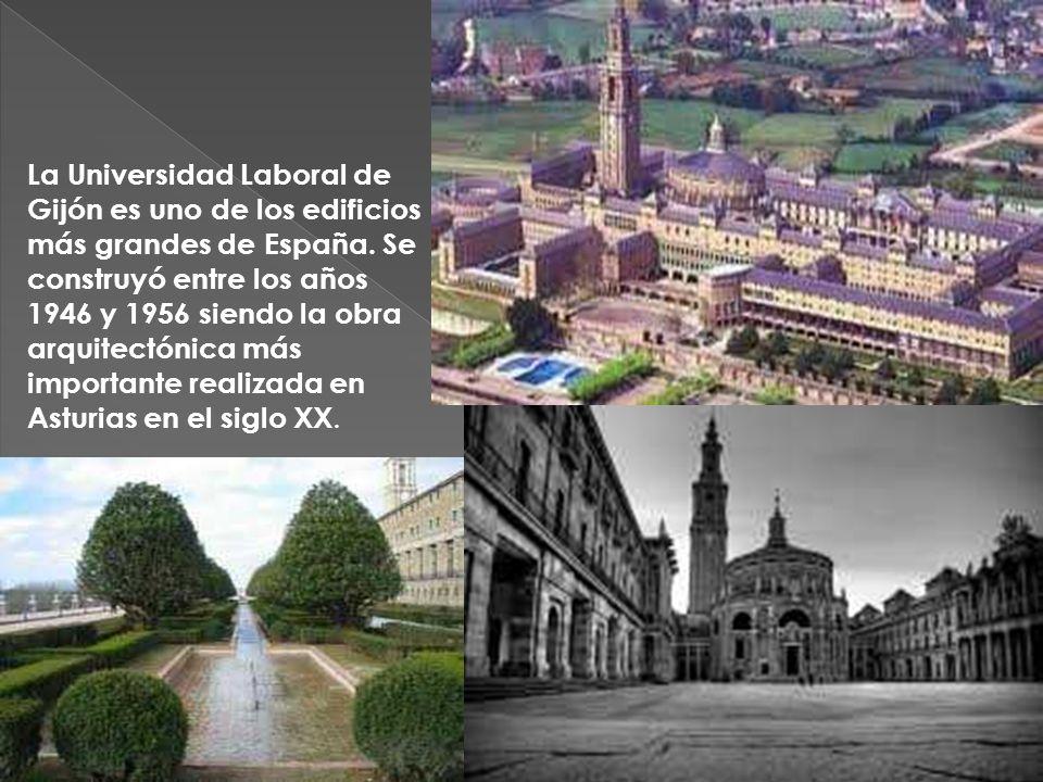 La Universidad Laboral de Gijón es uno de los edificios más grandes de España.