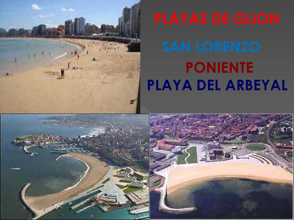 PLAYAS DE GIJON SAN LORENZO PONIENTE PLAYA DEL ARBEYAL