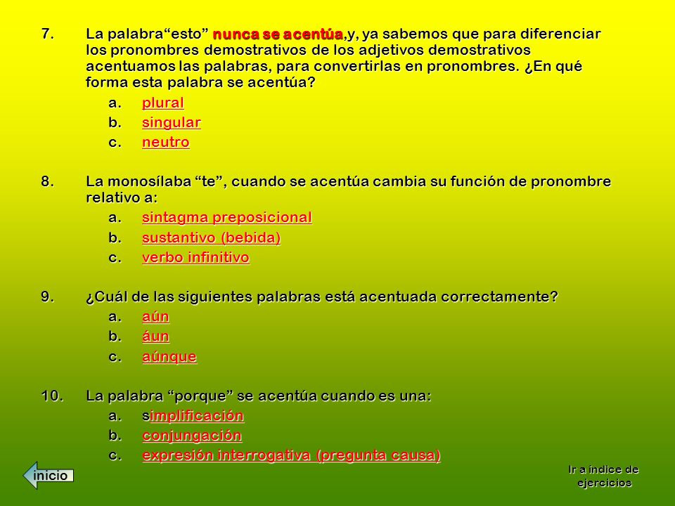 sintagma preposicional sustantivo (bebida) verbo infinitivo