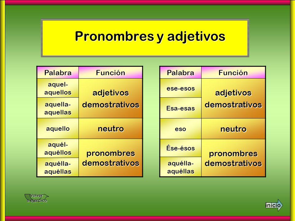 Pronombres y adjetivos