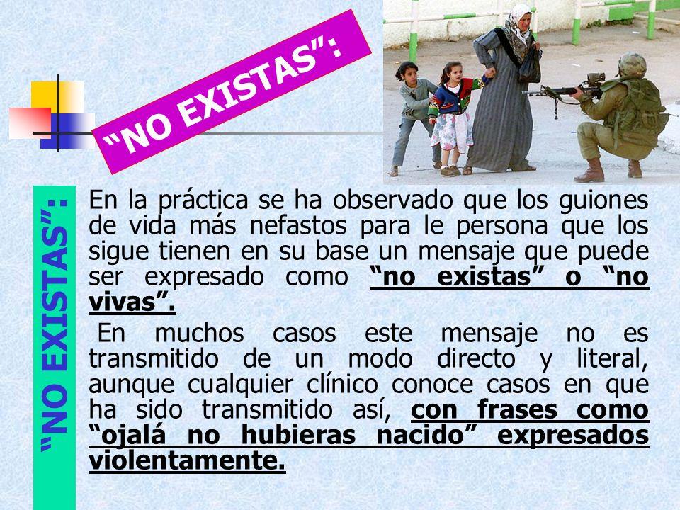 NO EXISTAS : NO EXISTAS :