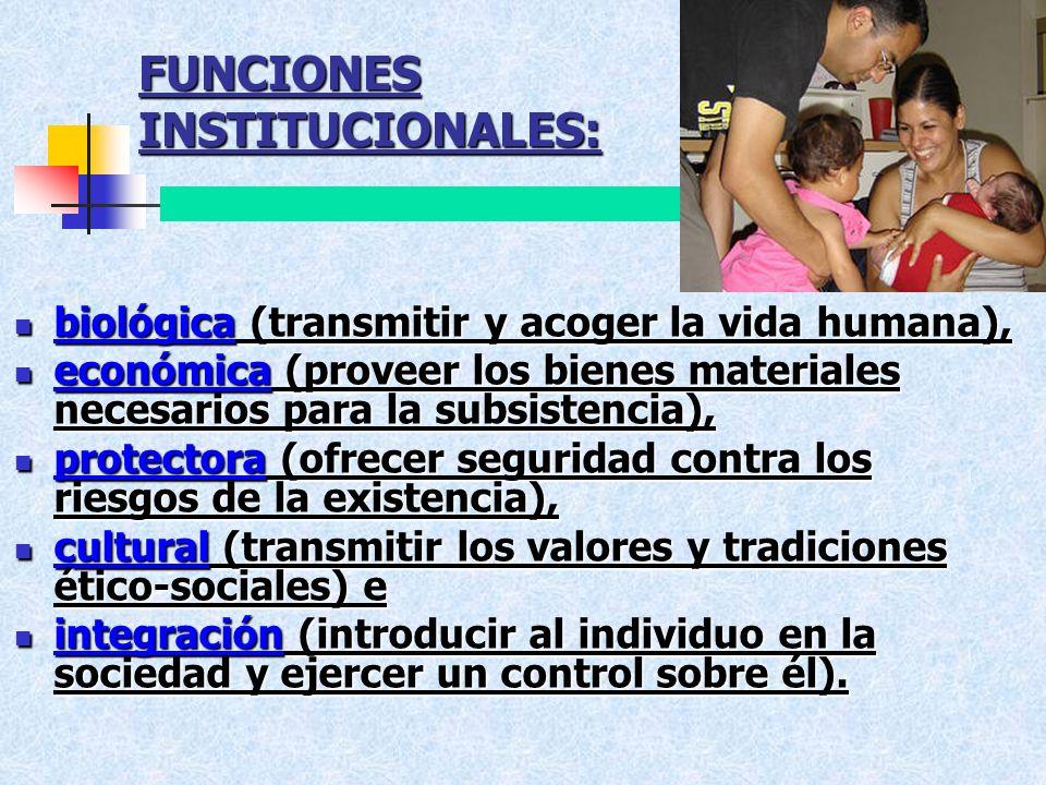 FUNCIONES INSTITUCIONALES: