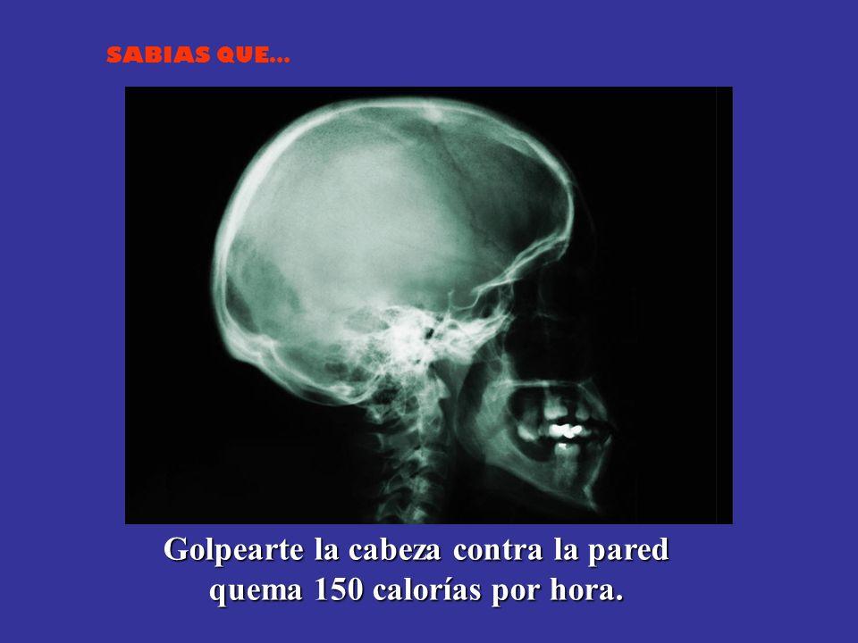 Golpearte la cabeza contra la pared quema 150 calorías por hora.