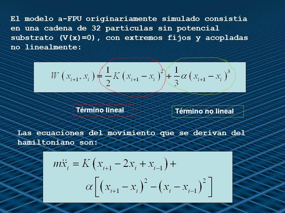 Las ecuaciones del movimiento que se derivan del hamiltoniano son: