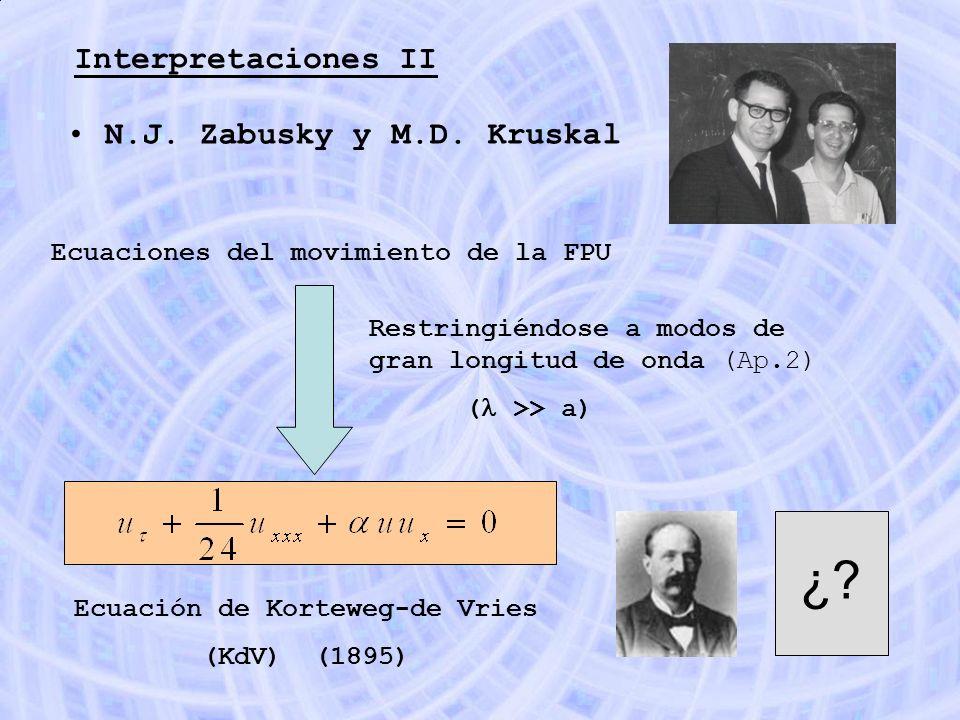 Ecuación de Korteweg-de Vries