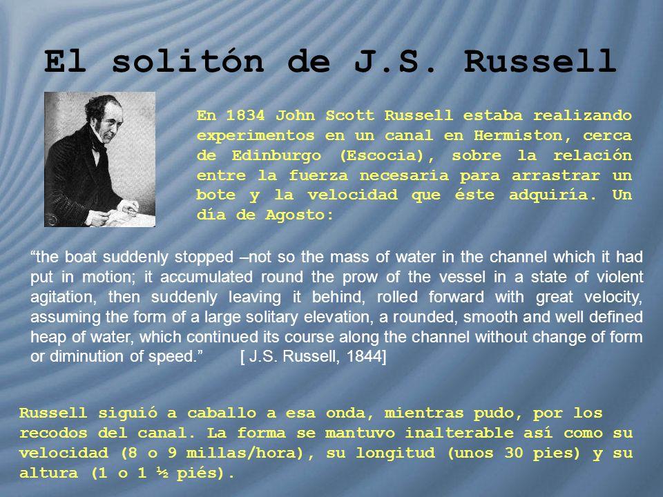 El solitón de J.S. Russell