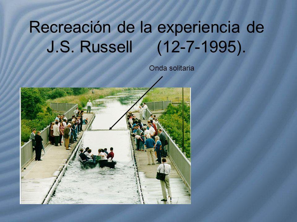 Recreación de la experiencia de J.S. Russell (12-7-1995).