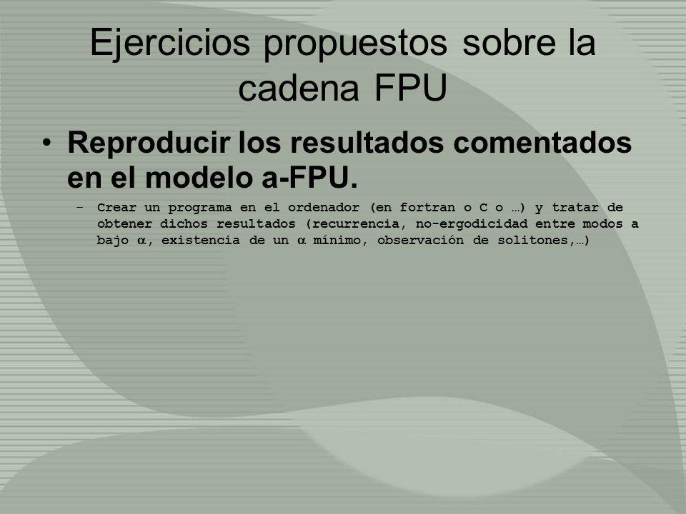 Ejercicios propuestos sobre la cadena FPU