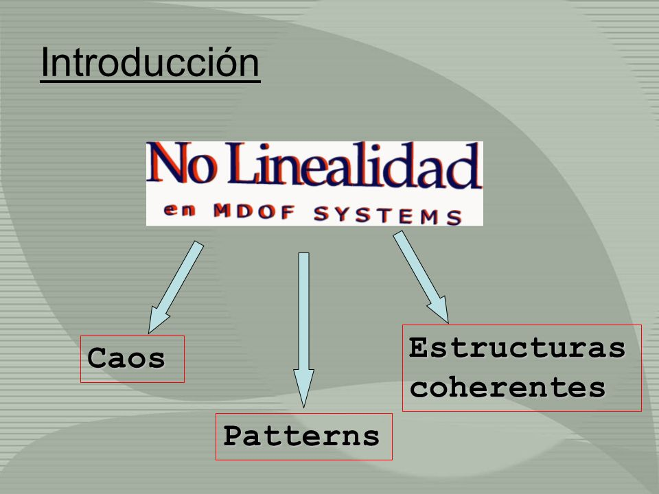 Introducción Estructuras coherentes Caos Patterns