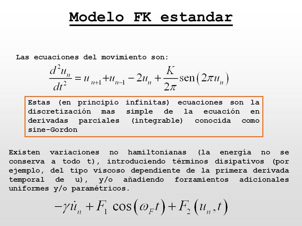 Modelo FK estandar Las ecuaciones del movimiento son:
