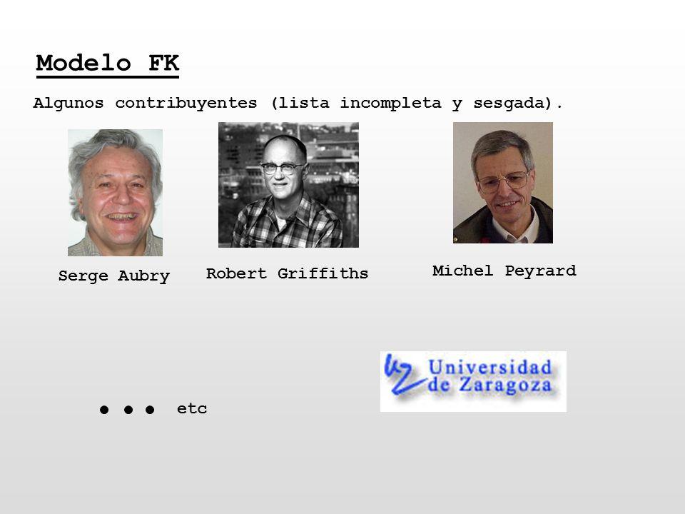 Modelo FK Algunos contribuyentes (lista incompleta y sesgada).