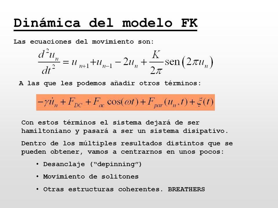 Dinámica del modelo FK Las ecuaciones del movimiento son: