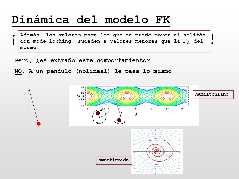 ¡ ! Dinámica del modelo FK Pero, ¿es extraño este comportamiento