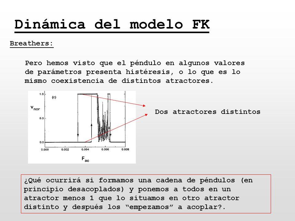 Dinámica del modelo FK Breathers: