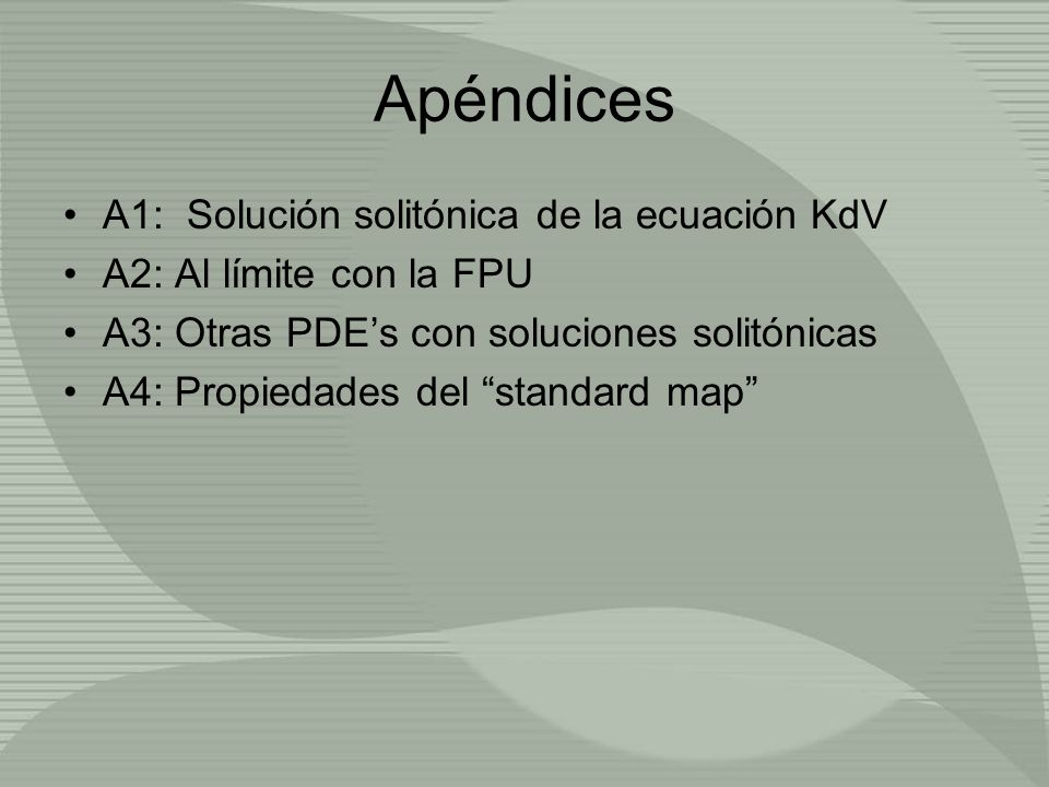 Apéndices A1: Solución solitónica de la ecuación KdV