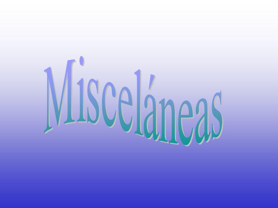 Misceláneas