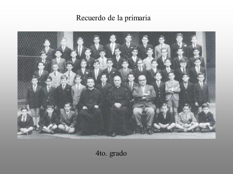 Recuerdo de la primaria