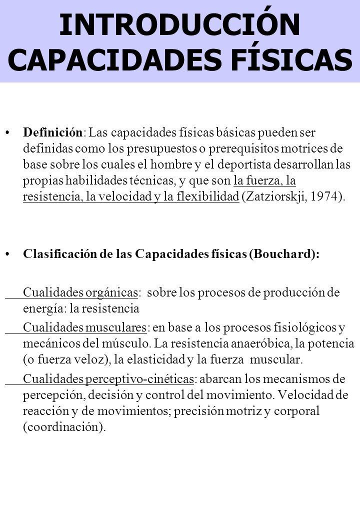 INTRODUCCIÓN CAPACIDADES FÍSICAS