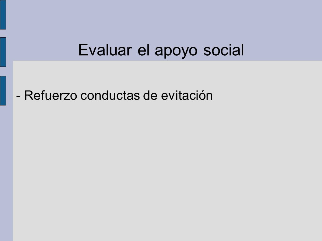 Evaluar el apoyo social