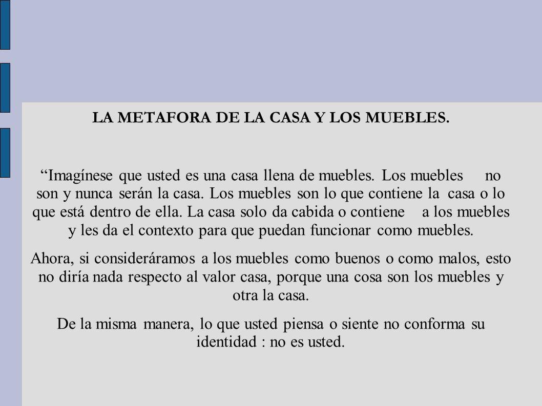 LA METAFORA DE LA CASA Y LOS MUEBLES.