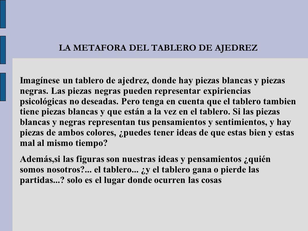 LA METAFORA DEL TABLERO DE AJEDREZ
