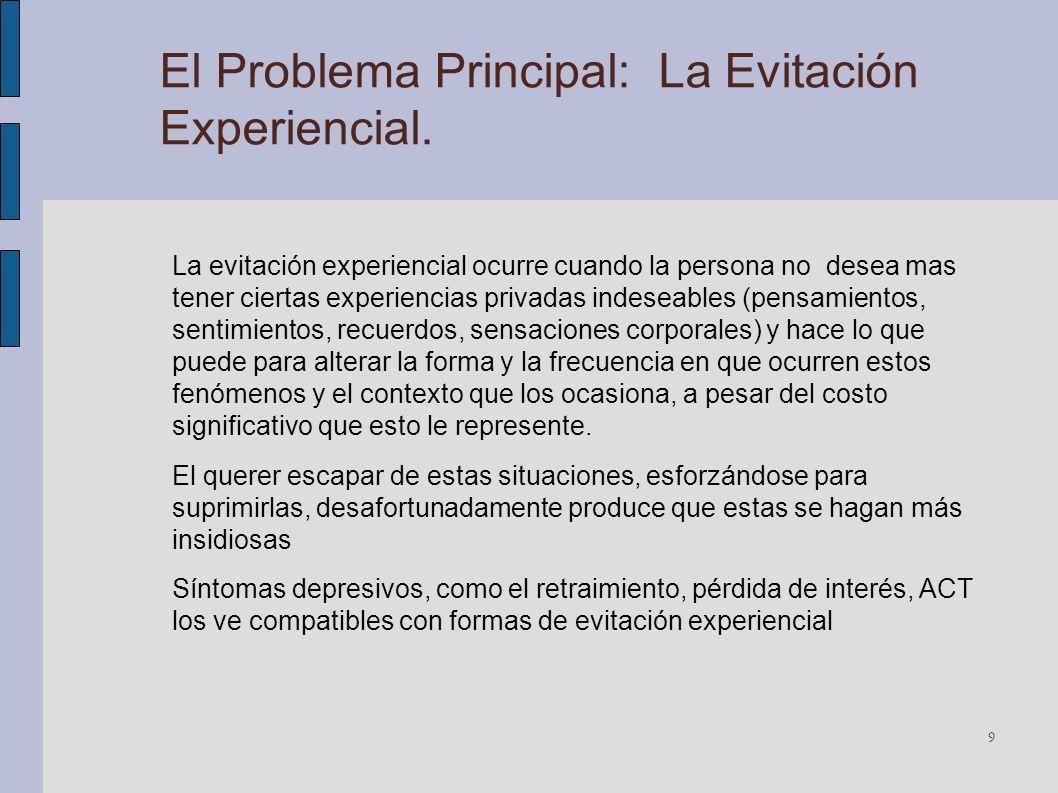 El Problema Principal: La Evitación Experiencial.