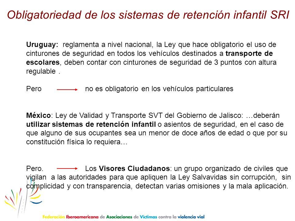 Obligatoriedad de los sistemas de retención infantil SRI