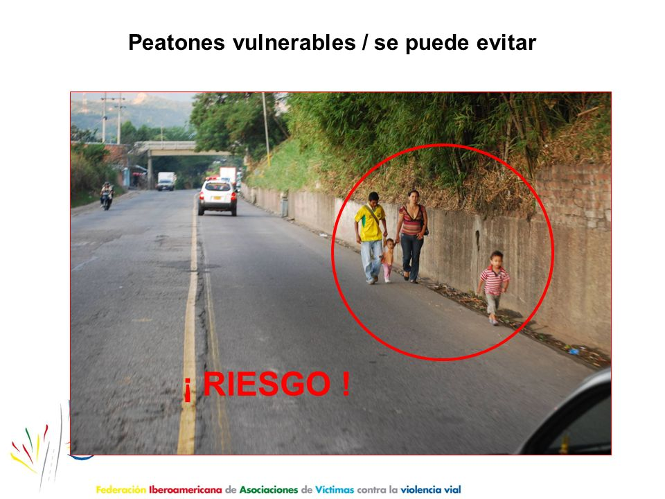 Peatones vulnerables / se puede evitar