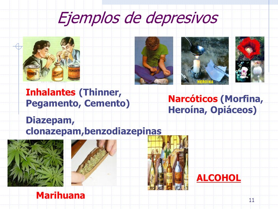 Ejemplos de depresivos