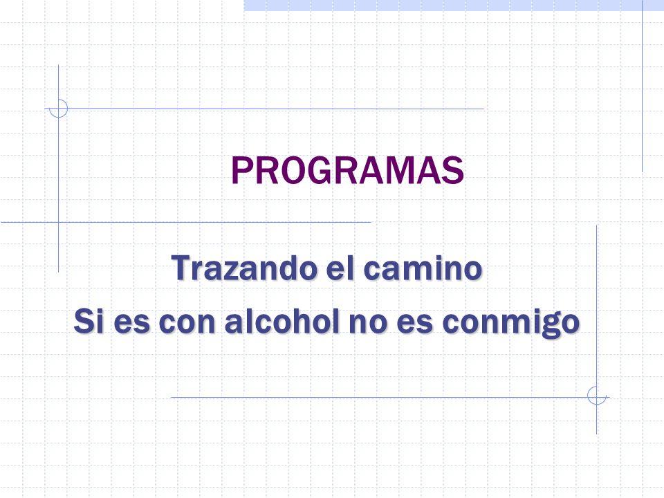 Trazando el camino Si es con alcohol no es conmigo