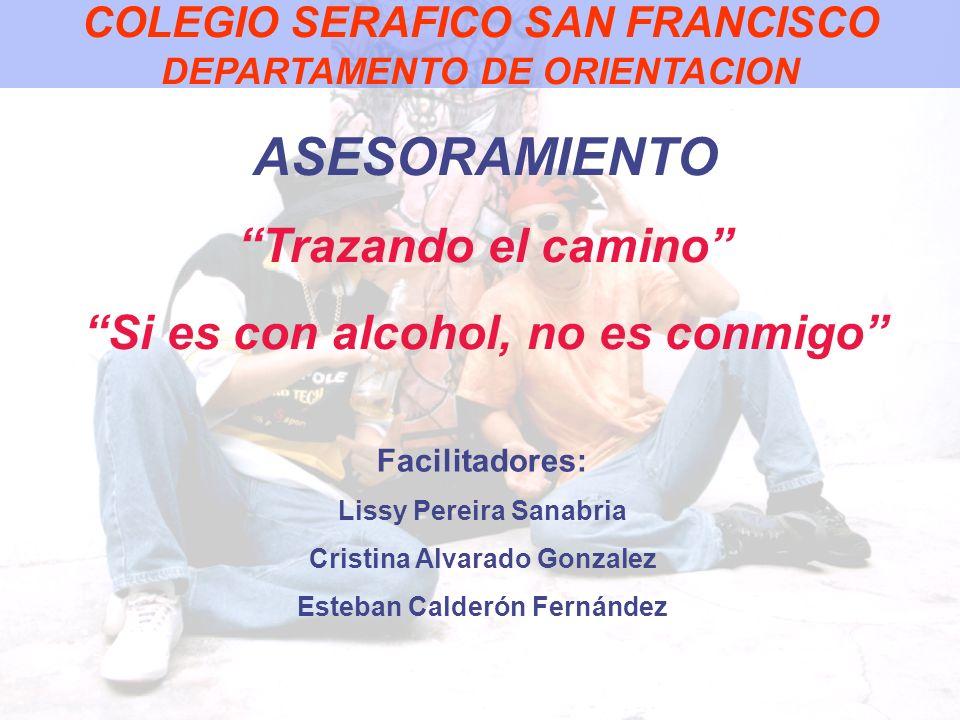 ASESORAMIENTO Trazando el camino Si es con alcohol, no es conmigo