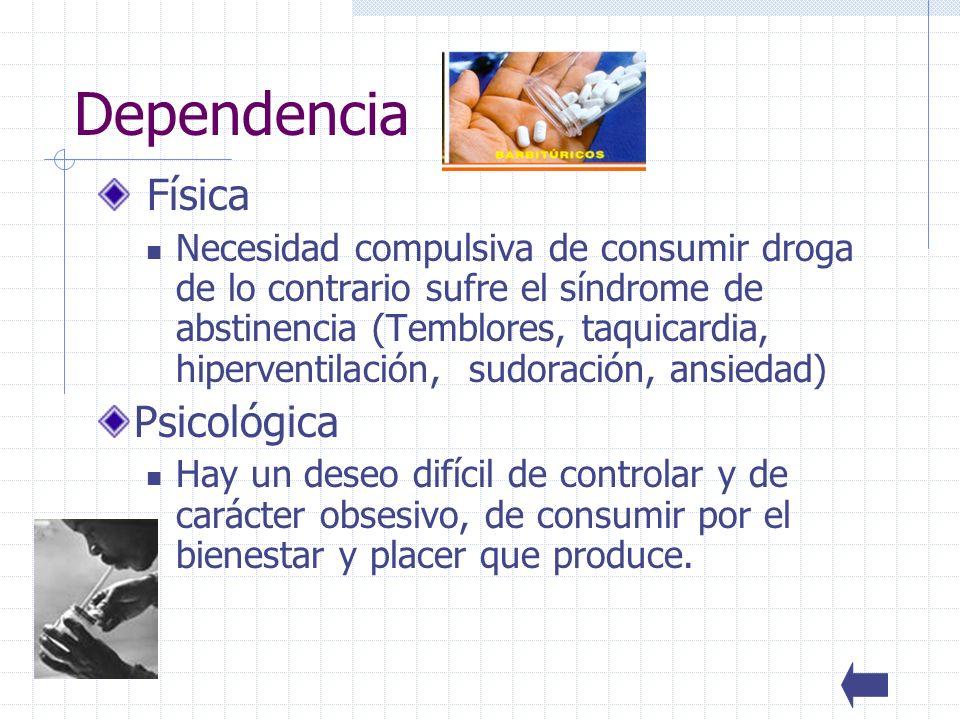 Dependencia Física Psicológica