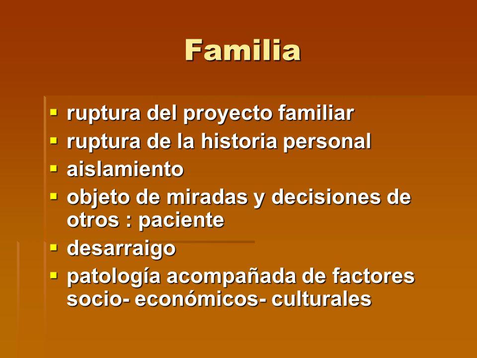 Familia ruptura del proyecto familiar ruptura de la historia personal