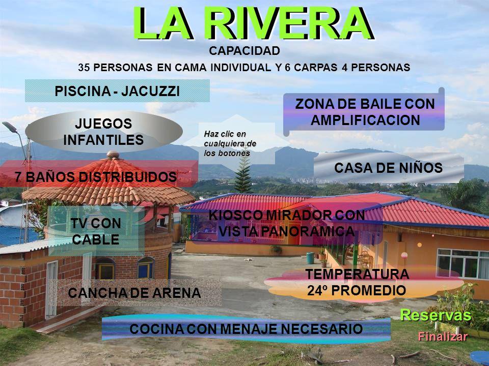 LA RIVERA Reservas PISCINA - JACUZZI ZONA DE BAILE CON AMPLIFICACION