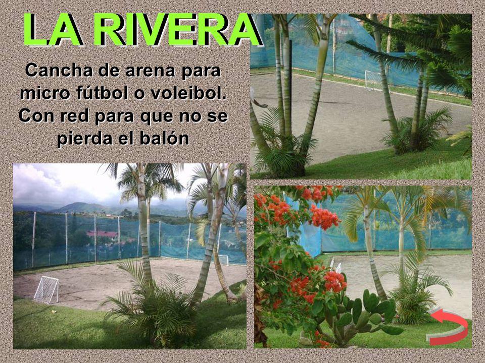 LA RIVERA Cancha de arena para micro fútbol o voleibol. Con red para que no se pierda el balón