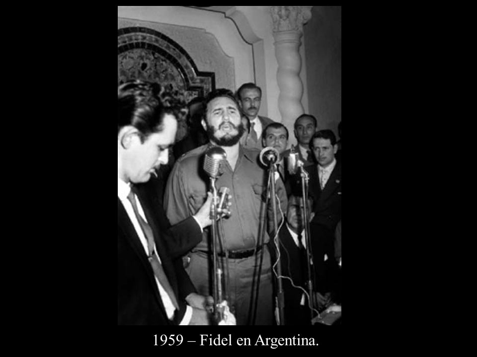 1959 – Fidel en Argentina.