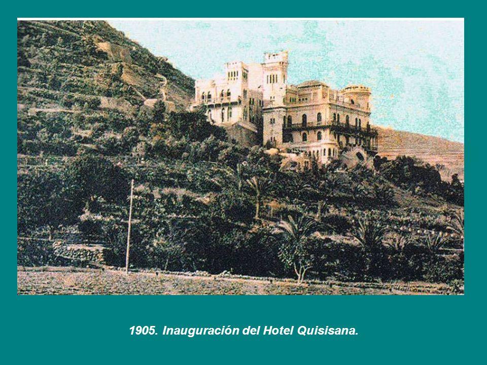 1905. Inauguración del Hotel Quisisana.