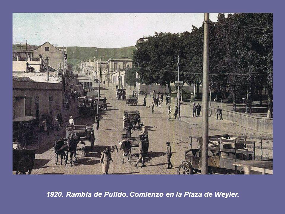 1920. Rambla de Pulido. Comienzo en la Plaza de Weyler.