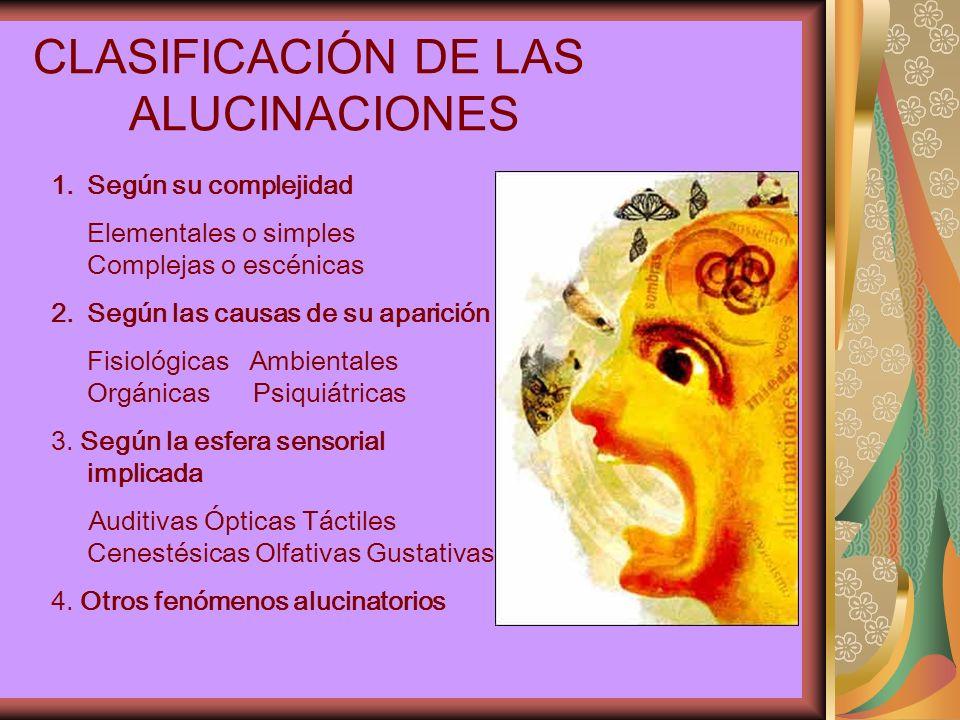 CLASIFICACIÓN DE LAS ALUCINACIONES