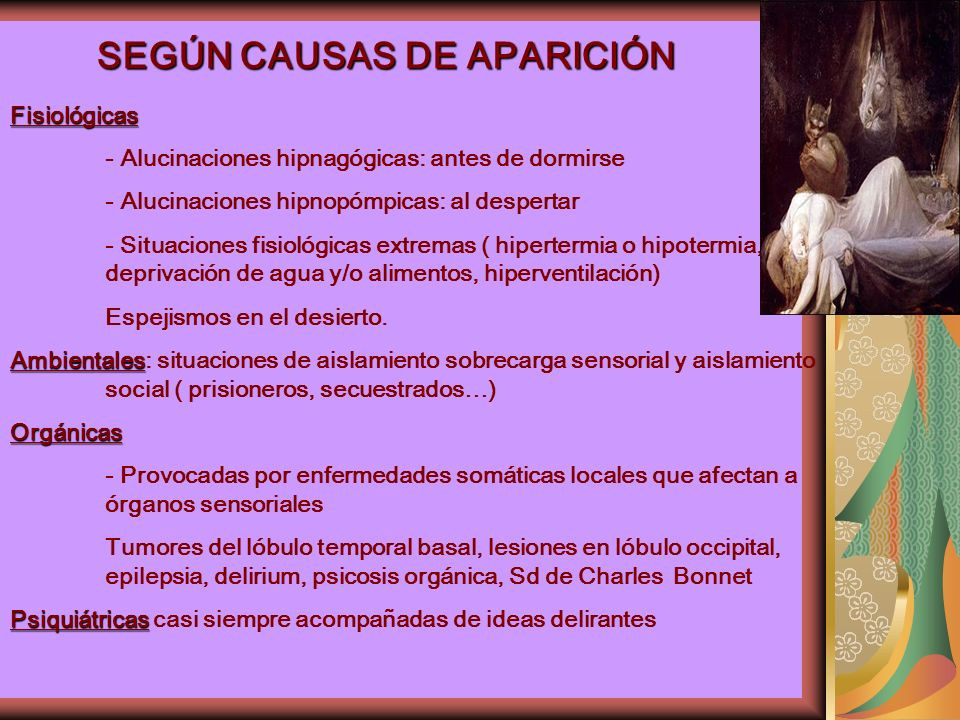 SEGÚN CAUSAS DE APARICIÓN
